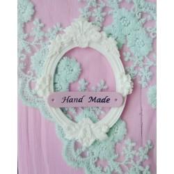Бирка №2 Hand Made Розовая 5*1 см