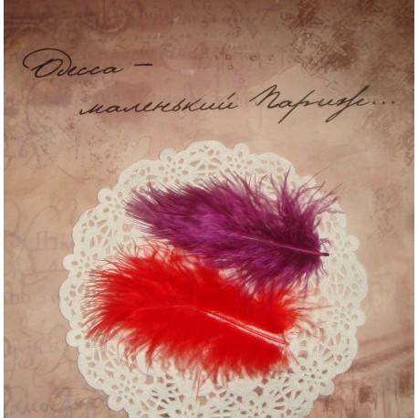 Перья декоративные Фиолетовые 6-10 см., 10 шт