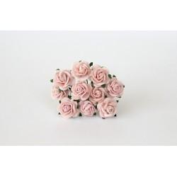 Розочки 15мм, 5 шт, розово-персиковые