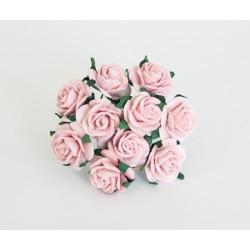 Розочки 20мм, 5 шт, розово-персиковые