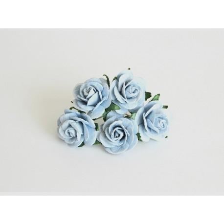 Розочки 25мм, 5 шт, голубые