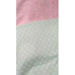 Ткань Сердечки на мятном фоне 50*40 см, Корея