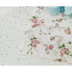 Ткань Розы на белом фоне 50*40 см, Корея