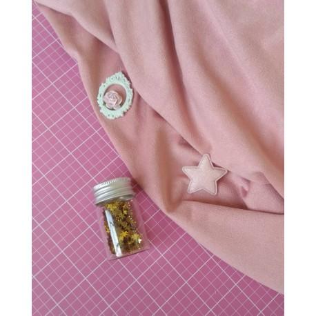 Замш тонкий пепельно-розовый 25*50 см