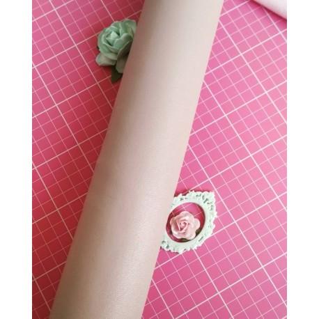 Кожзам пыльно розовый 50*45 см
