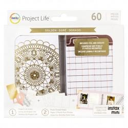 Kit Набор карточек - GOLDEN, 60 шт, Project Life