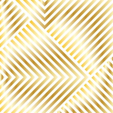 Калька OPEN BOOK STRIPES 30X30см с золотым фольгированием