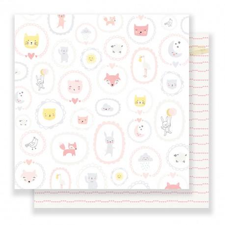 Лист скрапбумаги Little You BABY GIRL 30,5х30,5 см