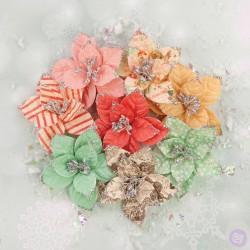 Набор цветов Sweet Peppermint Flowers - Holiday Carols, Prima Marketing