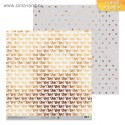Бумага для скрапбукинга Любовь, 30,5 х 30,5 см