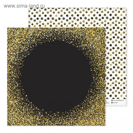 Бумага для скрапбукинга Елочные шары 30,5 см
