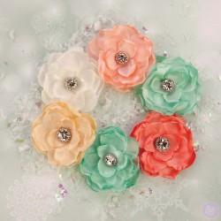 Набор цветов Sweet Peppermint Flowers - Christmas Morning от Prima Marketing
