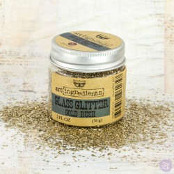 Art Ingredients-Glass Glitter Gold Rush 56g Prima Marketing