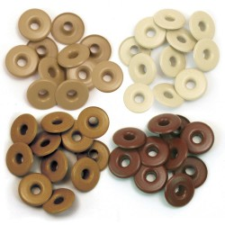 Люверсы Wide Eyelets – BROWN , 40 шт
