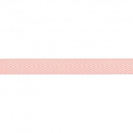 Лента шеврон хлопок PINK -MAYARTS TWILL STRIPE, 1 ярд