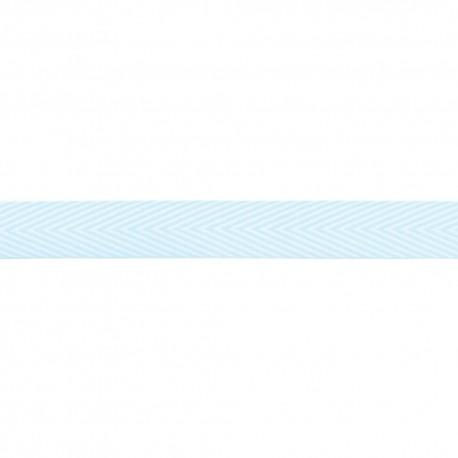 Лента шеврон хлопок LIGHT BLUE -MAYARTS TWILL STRIPE, 1 ярд