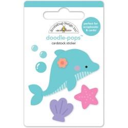 3-D наклейка Дельфин - Doodle-Pops - Doodlebug