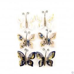 Бабочки Prima Marketing  Georgia Blues Flowers WARREN, 6 шт