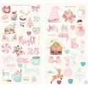 Чипборд SANTA BABY с розовым фольгированием, 50 шт Prima Marketing