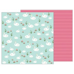 Лист скрапбумаги 30,5*30,5 см PEBBLES  GRACEFUL SWANS
