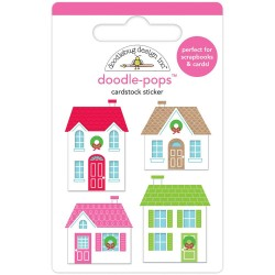 Наклейка 3D Christmas Town от Doodlebug