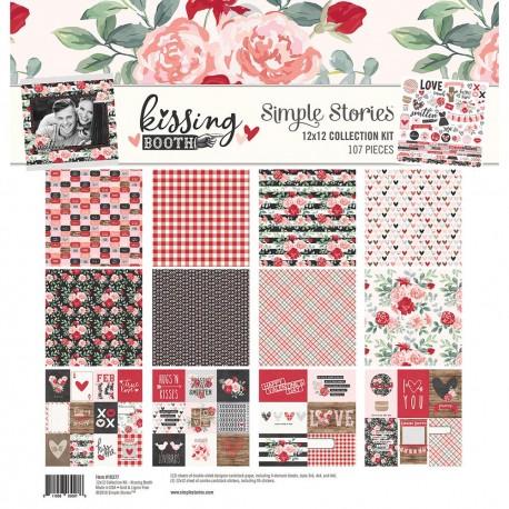 "Набор бумаги  Simple Stories Kissing Booth, Kit 12""X12"""