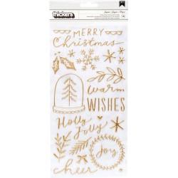 Стикеры Merry Days, Crate Paper  76/Pkg