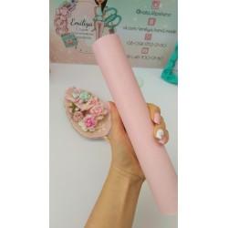 Итальянский переплетный кожзам светло-розовый матовый 25*35 см