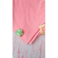 Замш двухсторонний тонкий розовый 25*37 см