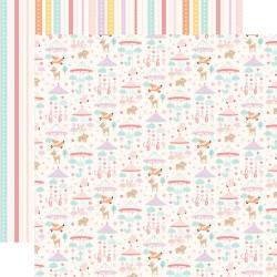 Лист скрапбумаги HELLO BABY GIRL Mobiles 30,5*30,5 см, Echo Park Paper