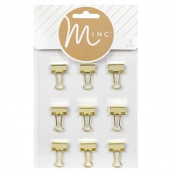 Биндеры GOLD BINDER CLIPS (9 PIECE)