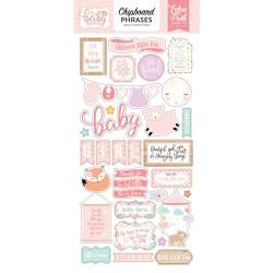 Чипборд HELLO BABY GIRL, 15*30 см, Echo Park Paper
