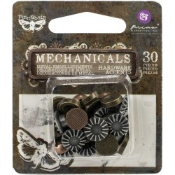 Металлический декор  Prima Marketing  Finnabair Mechanicals Metal Embellishments, 30 шт