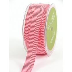 Лента шеврон хлопок Лента от May Arts Twill Chevron Red, 1 ярд