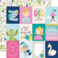 Лист скрапбумаги Little PRINCESS - Elements  30,5*30,5 см, Simple Stories
