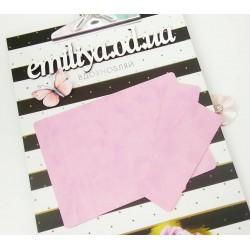Заготовка на паспорт из Итальянского переплетного кожзама Розово-сиреневый матовый