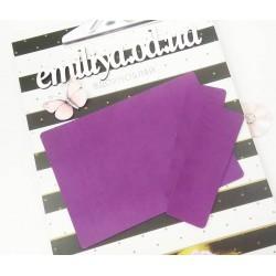 Заготовка на паспорт из Итальянского переплетного кожзама Лиловый матовый