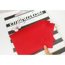 Заготовка на паспорт из Итальянского переплетного кожзама Красный Твил
