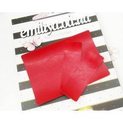 Заготовка на паспорт из Итальянского переплетного кожзама Красный глянец
