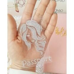 Рисунок + Passport из Глиттерной термотрансферной пленки Серебро