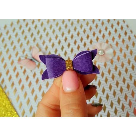 Набор для создания банта из Итальянского переплетного кожзама 5*2 см, Фиолетвый