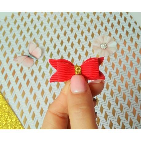 Набор для создания банта из Итальянского переплетного кожзама 5*2 см, Красный Твилл