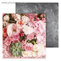 Бумага для скрапбукинга «Цветочный букет», 30.5 × 30.5 см, 180 г/м