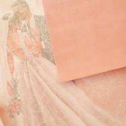 Бархатная бумага Розовая  20*22 см
