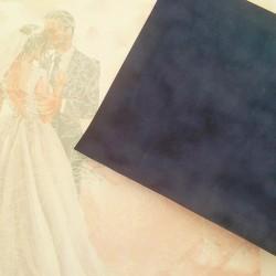 Бархатная бумага Синяя  20*22 см