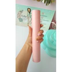 Итальянский переплетный кожзам Розовый глянец 25*35 см