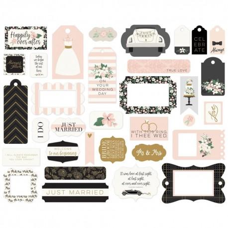 Набор высечек Frames & Tags, Wedding Day, 33шт, Echo Park Paper