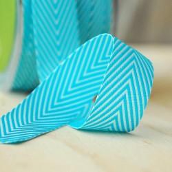 Лента шеврон хлопок Turquoise -MAYARTS TWILL STRIPE, 1 ярд
