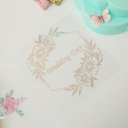 Ацетат 21*30 см Wedding day с золотым фольгированием