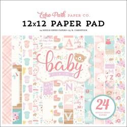 Набор бумаги HELLO BABY GIRL, 30,5*30,5 см 12 л Echo Park Paper